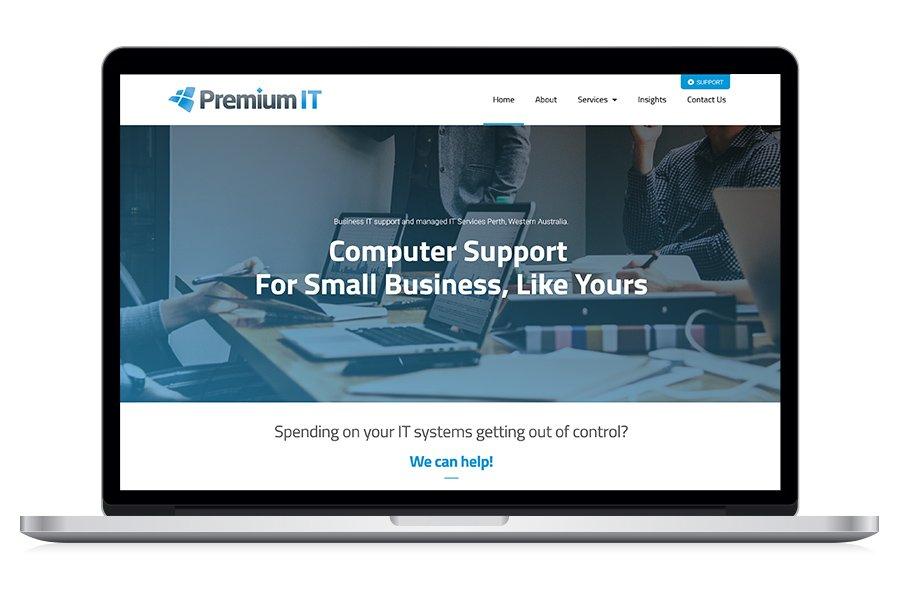 Case Study - Premium IT Website Redesign 2